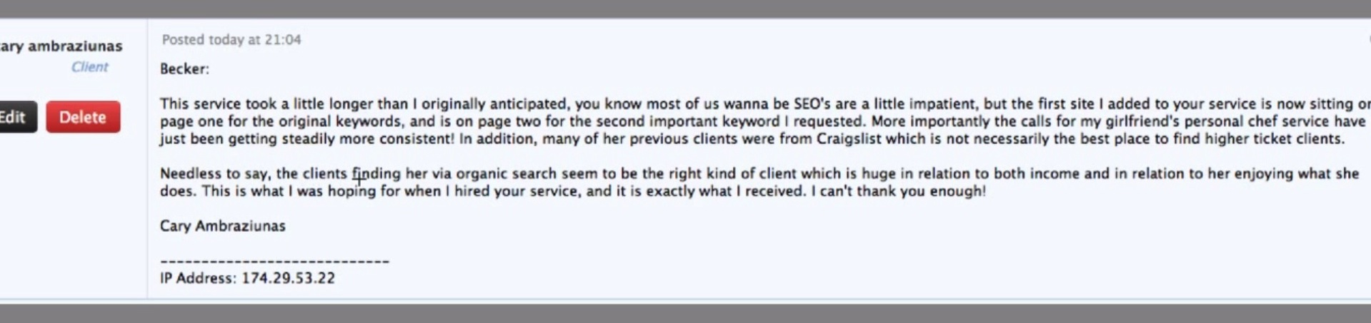 chef service on autopilot seo